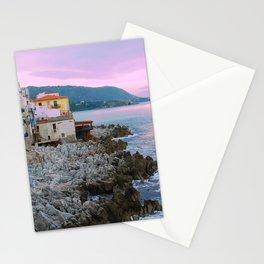 Cefalu Italy Coast Sunset Stationery Cards