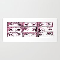 snsd Art Prints featuring Girls' Generation 9 eyes by Noir0083