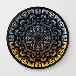 Touch of golden glow Wall Clock