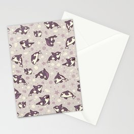 Jelly bean orcas Stationery Cards
