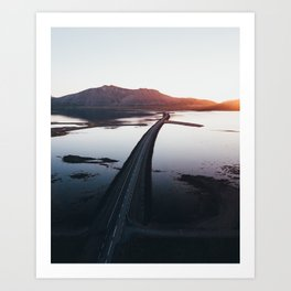 Eastern Iceland Sunset Art Print