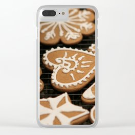 Holiday Iced Cookies Clear iPhone Case