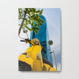 Yellow Piaggo Cuatro Torres Business Area Metal Print