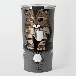 Eyes of cat Travel Mug