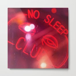 No Time to Sleep Metal Print