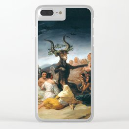 The Sabbath of Witches Goya Painting Clear iPhone Case