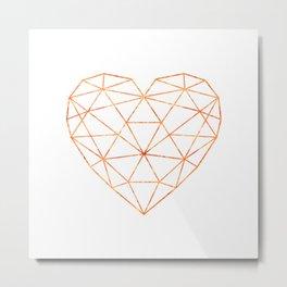 COPPER HEART (WHITE) Metal Print