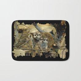 African Meerkat Trio Bath Mat