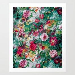 Stormy garden Art Print