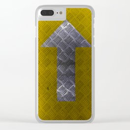 Industrial Arrow Tread Plate - Up Clear iPhone Case