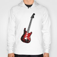 music notes Hoodies featuring Music Notes Electric Guitar by GBC Design
