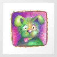 puppy Art Prints featuring Puppy by Chris Winn