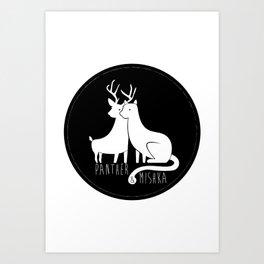 Panther & Mishka Art Print