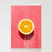 fruit Stationery Cards featuring fruit 5 by LEEMO
