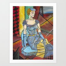 Madam Abstract Art Print