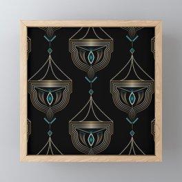 """Art Deco . """"Gold pendants """". Framed Mini Art Print"""