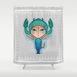 scorpio zodiac sign Shower Curtain
