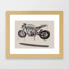 steely float Framed Art Print