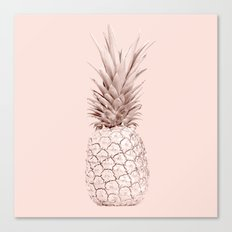 Pink Gold Pineapple Canvas Print
