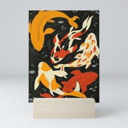 Koi in Black Water Mini Art Print