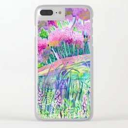 Spring is Sprung Clear iPhone Case