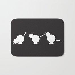 Chicks in a Row - black Bath Mat