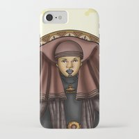 jedi iPhone & iPod Cases featuring Luminara Jedi by Miguel Angel Carroza