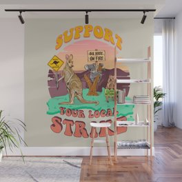 Australia: Support Your Local Strike Wall Mural