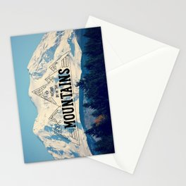 I'd Rather be in the Mountains Stationery Cards