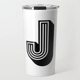 Letter J Travel Mug