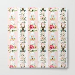 Colorful romantic flowers pattern Metal Print