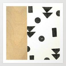 Black and white shapes Art Print