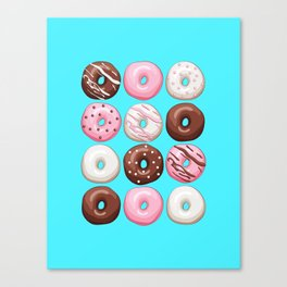 Donuts Party Canvas Print