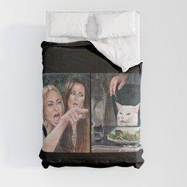 Woman Yelling at Cat Meme-3 Comforters