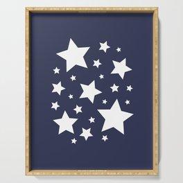 Stars - Navy Blue Serving Tray
