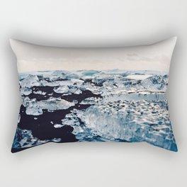 Ice Field on Diamond Beach, Iceland Rectangular Pillow