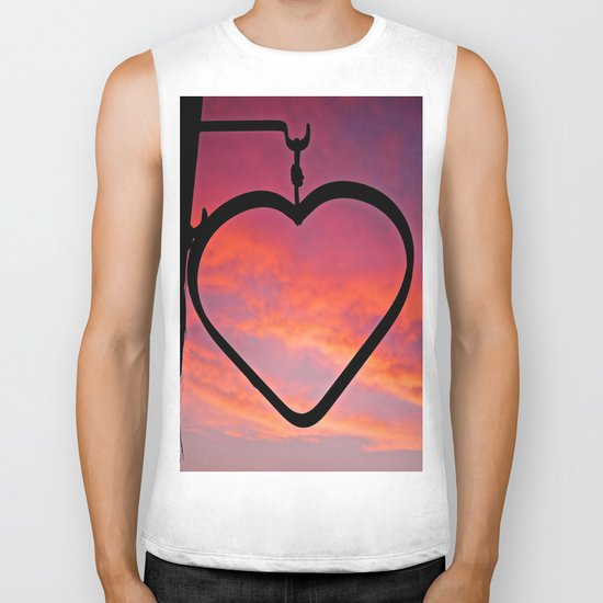 Love Sunset Biker Tank