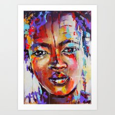 Closer - portrait of a beautiful woman Art Print
