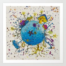 the snail planet Art Print