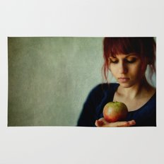 the girl with the apple Rug
