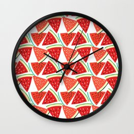 Sliced Watermelon Wall Clock
