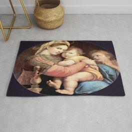 Raphael's Madonna della Sedia 1518 Rug