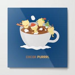 Kitty Cocoa Purrrl Metal Print