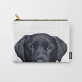 Labrador with white background Dog illustration original painting print Carry-All Pouch