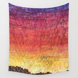Desert Sunset Pattern Wall Tapestry
