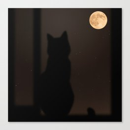 Staring At The Moon by Omerika Canvas Print
