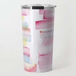 9 | 181101 Watercolour Palette Abstract Art | Lines | Stripes | Travel Mug