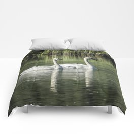 Family of Swans, No. 1 Comforters