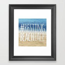 #RestingBeachFace Framed Art Print