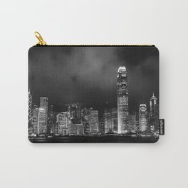 Hong Kong Skyline [Black & White] Carry-All Pouch